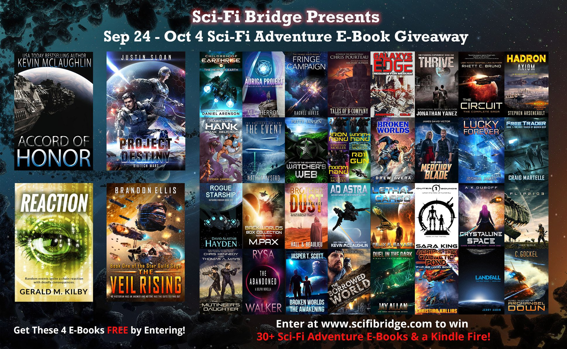 Sci-Fi Bridge Presents Sept 24 - Oct 4 Sci-Fi Adventure E-Book Giveaway